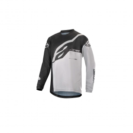 ALPINESTARS YOUTH RACER FACTORY LS JERSEY BLACK WHITE