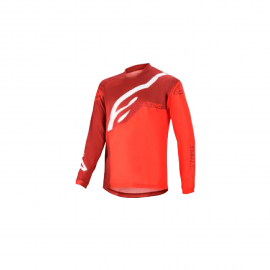 ALPINESTARS YOUTH RACER FACTORY LS JERSEY BURGUNDY BRIGHT RED WHITE