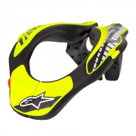 ALPINESTARS YOUTH NECK SUPPORT ANTHRACITE BRIGHT RED YELLOW FLUO OS