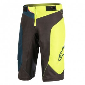 Alpinestars Youth Vector Shorts Black Acid Yellow