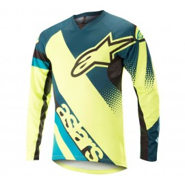 Alpinestars Youth Racer L/S Jersey Petrol Yelllow Fluo