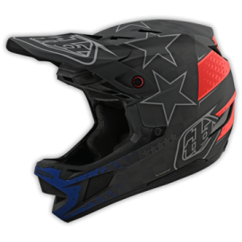 TroyLee Designs D4 carbon slash black / yellow