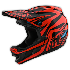 TroyLee Designs D4 composite slash orange / black