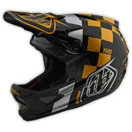 TroyLee Designs D3 fiberlite raceshop black / gold