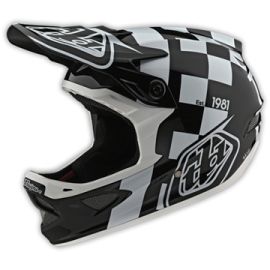 TroyLee Designs D3 fiberlite raceshop white / black