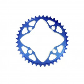 Sd-X Cnc 7075 Chainring 4 Hole 104 Blue