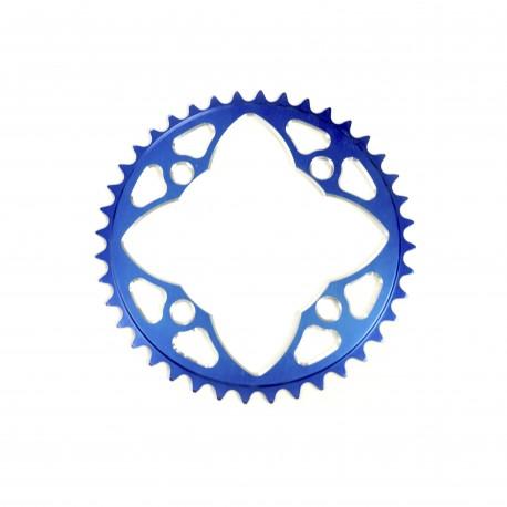 Sd-X Cnc 7075 Chainring 4 Hole 104 Blue