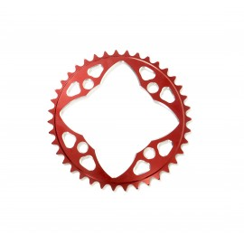 Sd-X Cnc 7075 Chainring 4 Hole 104 Red
