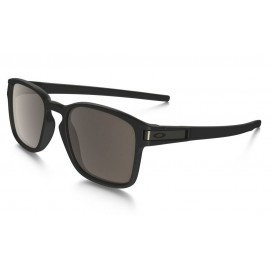 Oakley Latch Sunglasses OO9353-01 Matte Black / Warm Grey Lens