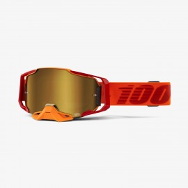 100% Armega goggle litkit true gold mirror