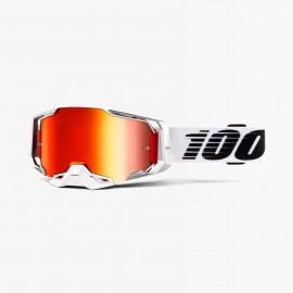 100% Armega goggle lightsaber red mirror