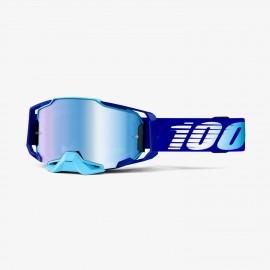 100% Armega goggle royal blue mirror