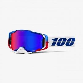 100% Armega goggle genesis hiper blue/red mirror