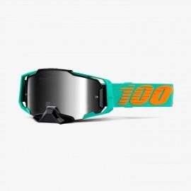 100% Armega goggle clark silver flash mirror