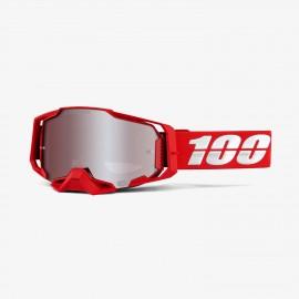 100% Armega goggle war red hiper silver mirror
