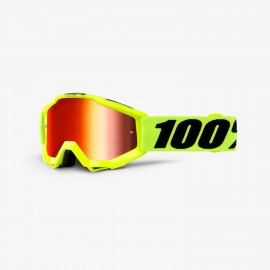 100% Accuri youth goggle fluo yellow mir red