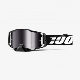 100% Armega goggle Black silver flash mirror