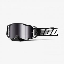 100% Armega goggle Black silver flash mirror