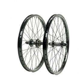 "SD Ace PRO 20"" Alloy Cassette Wheelset Full Black"