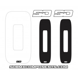 Sd Front + 2 Side Plate Numbers And Sd Logo Sticker Kit V2.0 Nr White