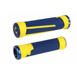 Odi Ag-2 Signature V2.1 Lock-On Grips - Midnight Blue/Cyber Yellow