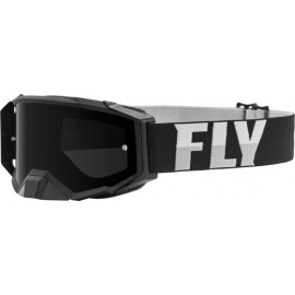 Fly Zone Pro Goggle 2021 Black/White W/Dark Smoke Lens W/Post