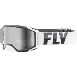 Fly Zone Pro Goggle 2021 White/Black W/Dark Smoke Lens W/Post