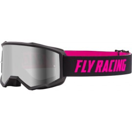Fly Zone Goggle 2021 Black/Pink W/Silver Mir/Smoke Lens W/Post