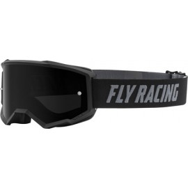 Fly Zone Goggle 2021 Black/White W/Dark Smoke Lens W/Post