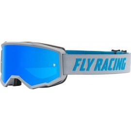 Fly Zone Goggle 2021 Blue/Black W/Sky Blue Mir/Smk Lens W/Post