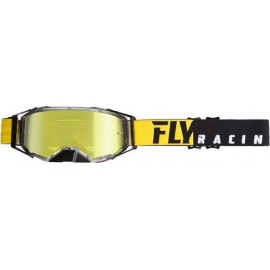 Fly Zone Pro Goggle Black/Yellow W/Gold Mirror Lens