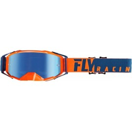 Fly Zone Pro Goggle Orange/Blue W/Blue Mirror Lens
