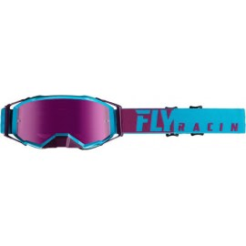 Fly Zone Pro Goggle Purple/Light Blue W/Pink Mirror Lens