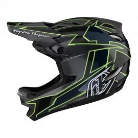 Troy Lee Designs D4 Carbon 2021 Helmet, Graph Gray / Green