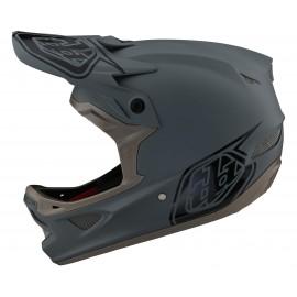 Troy Lee Designs D3 Fiberlite 2021 Helmet, Stealth Gray