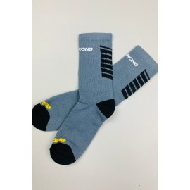 Stay Strong Chevron Socks Grey