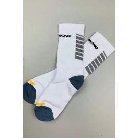 Stay Strong Chevron Socks White