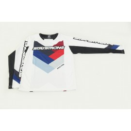 Stay Strong Chevron Race Jersey White