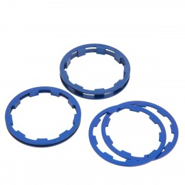 Box Zero Shimano Comp Cassette Spacers 1 To 5Mm Blue