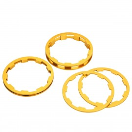 Box Zero Shimano Comp Cassette Spacers 1 To 5Mm Gold