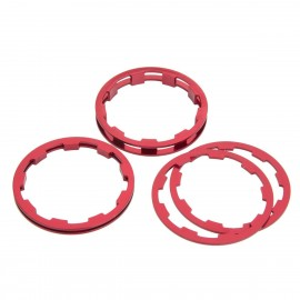 Box Zero Shimano Comp Cassette Spacers 1 To 5Mm Red