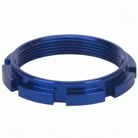 Box Edge 8 Prong Lock Ring Blue