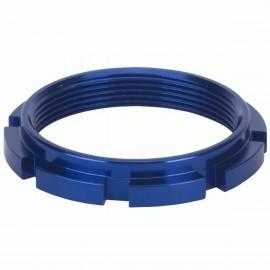 Box Edge 8 Prong Lock Ring Blue
