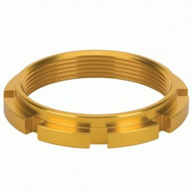 Box Edge 8 Prong Lock Ring Gold