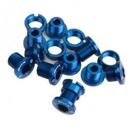 Box 7075 Alloy Chainring Bolts 15Pcs Blue