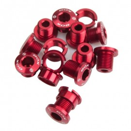 Box 7075 Alloy Chainring Bolts 15Pcs Red
