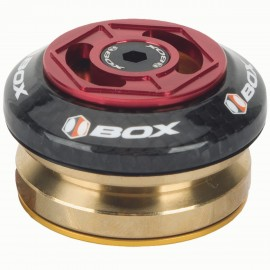 "Box Glide Carbon Integrated Headset 1 1/8"" Red"