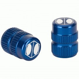 Box One Cube Valve Cap Blue Schrader