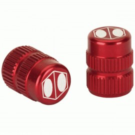 Box One Cube Valve Cap Red Schrader