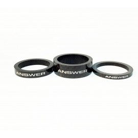 Answer Carbon Spacer 3 Pack Black